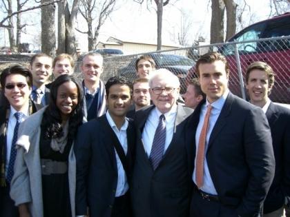Rajeeb Dey With Warren Buffet